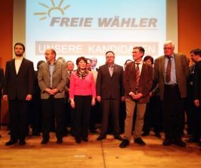 Die FW-Kandidaten für die Wahl zum Kreistag